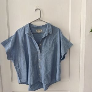 Cropped Chambray button up